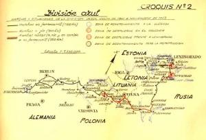 Карта боевого пути дивизии.