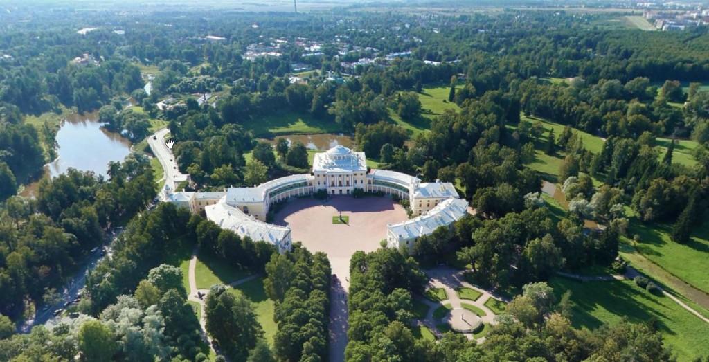Павловский дворец. Панорама. Аэрофотосъемка