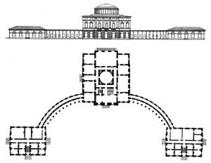 План Павловского дворца Камерон