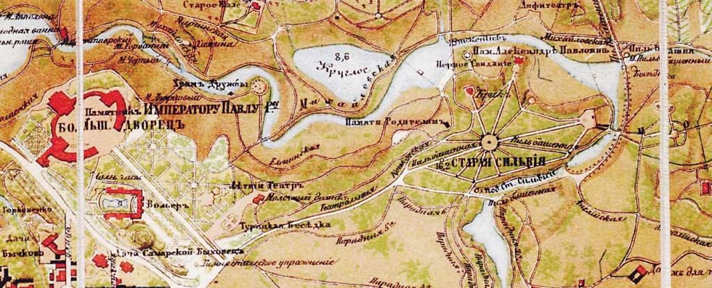 Старая Сильвия. Карта