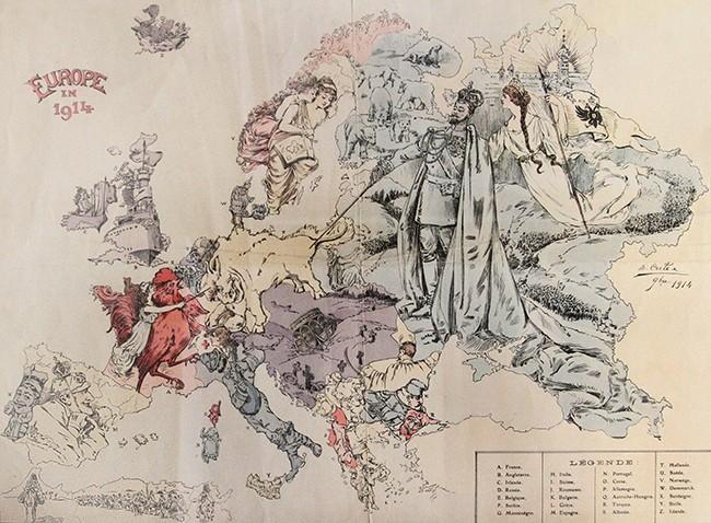 Символическая карта Европы: освободительная война 1914—1915 гг.